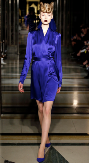 Gareth Pugh - Silk blue wrap dress