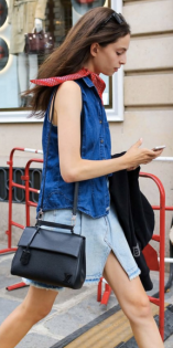 A denim vest or jean jacket are a great staple when pairing with a denim skirt or a pair of high waisted kick flares. Add a pop of color with a scarf and accessorize with your everyday satchel.