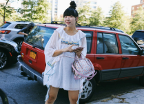 A shining starlet, Susie Bubble makes the fashion world complete. Her cable smocked dressed is the perfect attire for the humid New York air. You are adorned! PC: Tommy Ton x Vogue